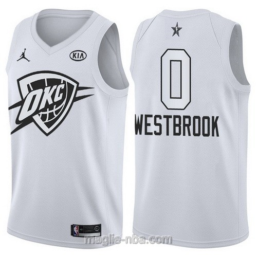 Canotte nba all star game 2018 Russell Westbrook #0 Oklahoma City Thunder bianco