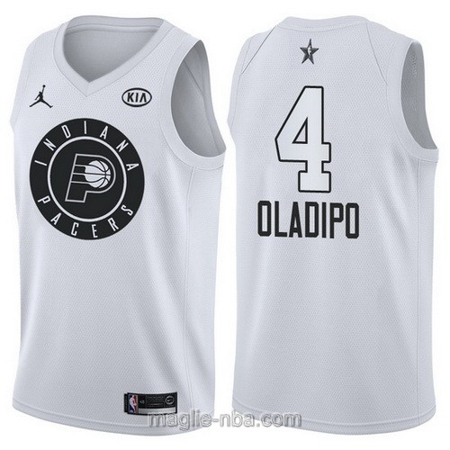 Canotte nba all star game 2018 Victor Oladipo #4 Indiana Pacers bianco