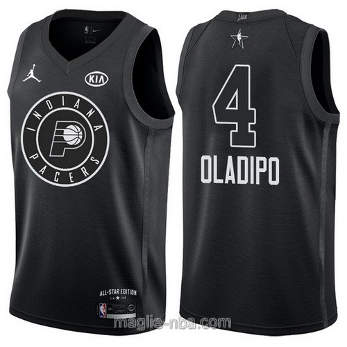 Canotte nba all star game 2018 Victor Oladipo #4 Indiana Pacers nero