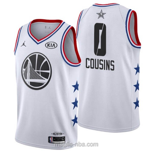 Canotte nba all star game 2019 #0 DeMarcus Cousins bianco