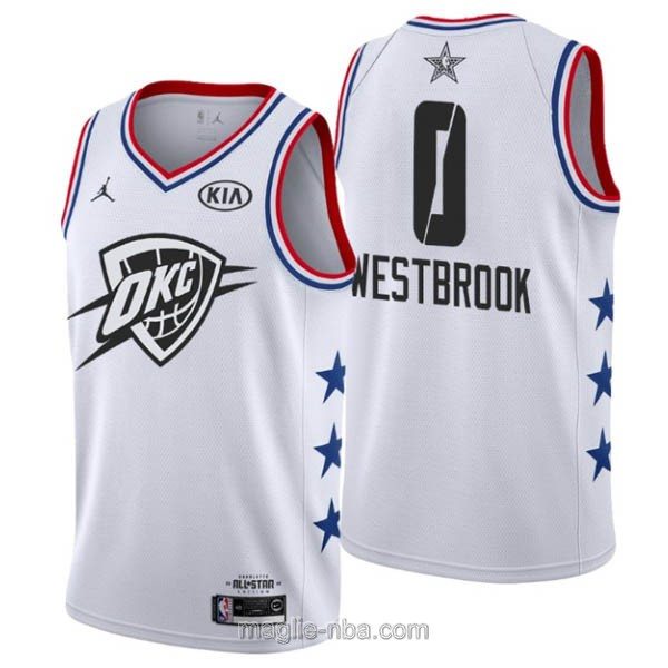 Canotte nba all star game 2019 #0 Russell Westbrook bianco