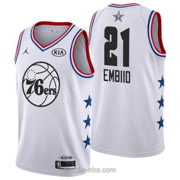 Canotte nba all star game 2019 #21 Joel Embiid bianco