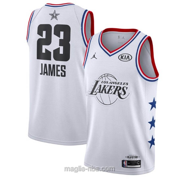 Canotte nba all star game 2019 #23 LeBron James bianco