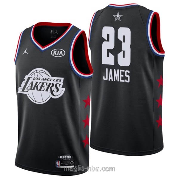 Canotte nba all star game 2019 #23 LeBron James nero