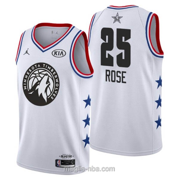 Canotte nba all star game 2019 #25 Derrick Rose bianco