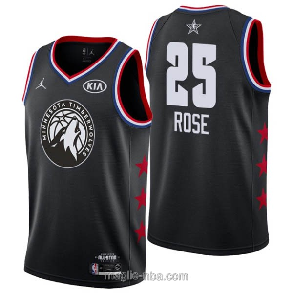 Canotte nba all star game 2019 #25 Derrick Rose nero