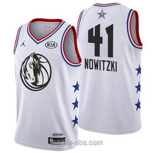 Canotte nba all star game 2019 #41 Dirk Nowitzki bianco