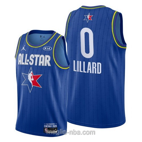 Canotte nba all star game 2020 #0 Damian Lillard blu