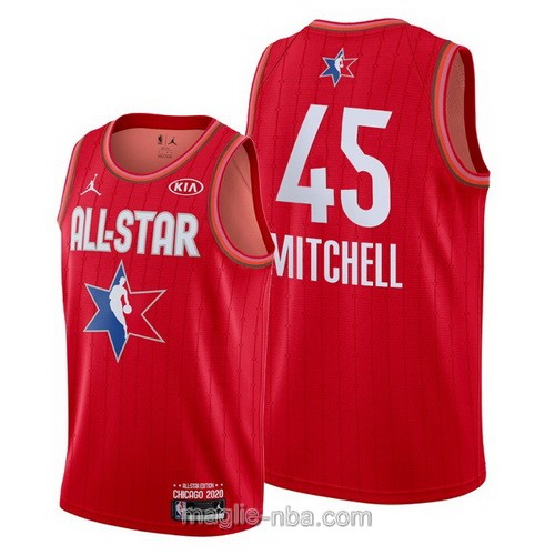 Canotte nba all star game 2020 #45 Donovan Mitchell rosso