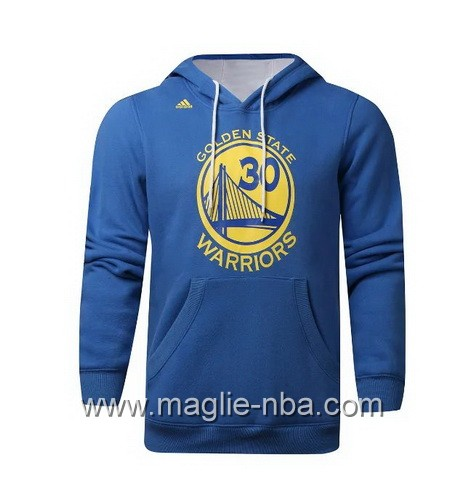 Felpa con cappuccio Adidas Golden State Warriors Stephen Curry #30 blu