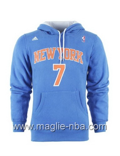 Felpa con cappuccio Adidas New York Knicks Carmelo Anthony #7 blu