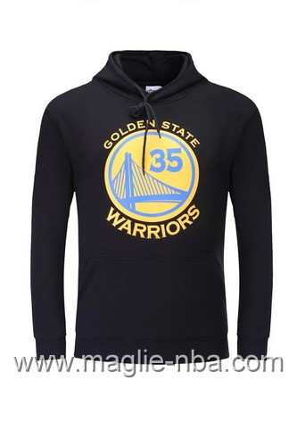 Felpa con cappuccio NBA Golden State Warriors Kevin Durant #35 nero