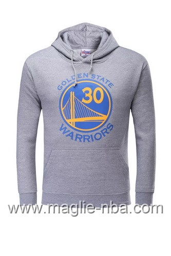 Felpa con cappuccio NBA Golden State Warriors Stephen Curry #30 grigio
