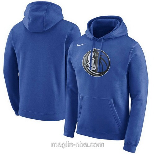 Felpa con cappuccio NBA Nike Dallas Mavericks blu