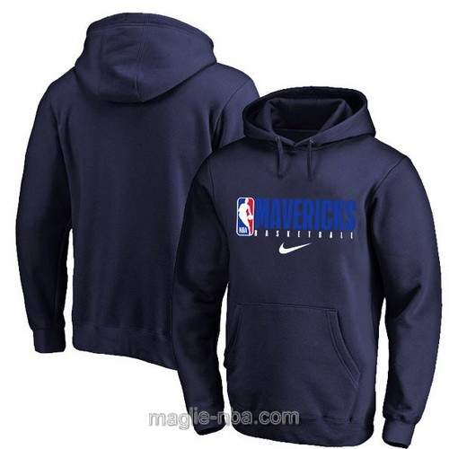 Felpa con cappuccio NBA Nike Dallas Mavericks blu scuro 2019-20