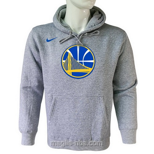 Felpa con cappuccio NBA Nike Golden State Warriors grigio