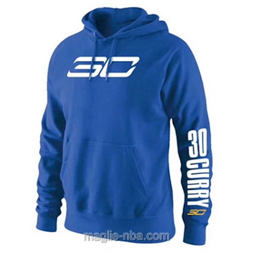 Felpa con cappuccio NBA #30 Stephen Curry blu