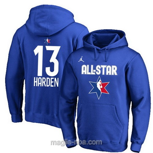 Felpa con cappuccio NBA all star game 2020 #13 James Harden blu