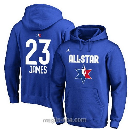 Felpa con cappuccio NBA all star game 2020 #23 Lebron James blu