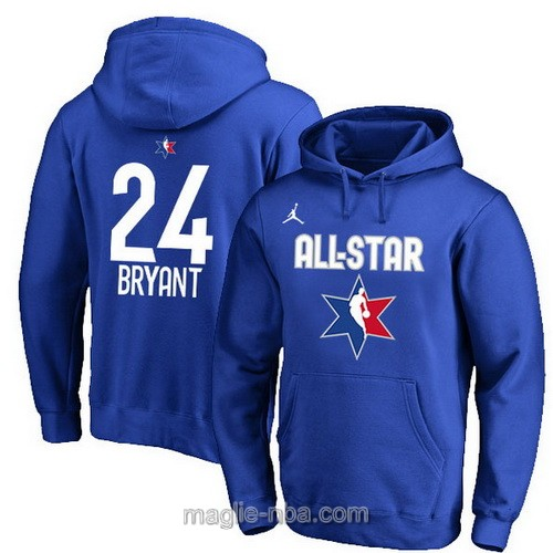 Felpa con cappuccio NBA all star game 2020 #24 Kobe Bryant blu