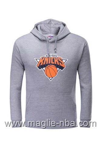 Felpa con cappuccio NBA New York Knicks Carmelo Anthony #7 grigio