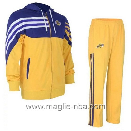 Giacca Basket NBA Los Angeles Lakers giallo