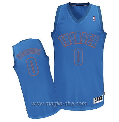 Maglia 2012 Christmas Day Swingman Russell Westbrook #0 blu Oklahoma City Thunder