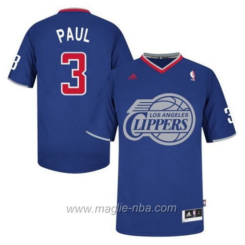 Maglia 2013 Giorno di Natale Swingman Chris Paul #3 blu Los Angeles Clippers