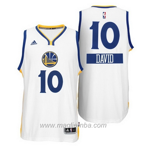 Maglia 2014 Giorno di Natale David Lee #10 giallo Golden State Warriors
