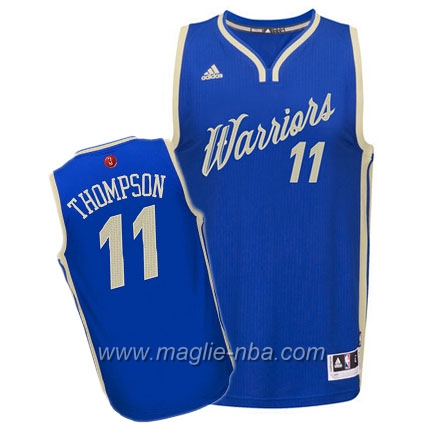 Maglia 2015 Giorno di Natale Swingman Klay Thompson #11 blu Golden State Warriors