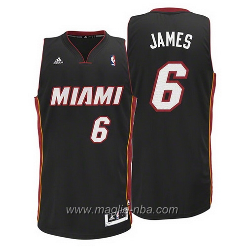 Maglia 2015 Swingman LeBron James #6 nero Miami Heat