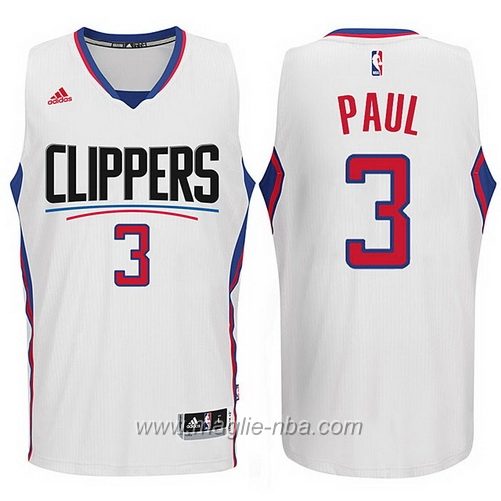 Maglia 2015 nuovo logo Swingman Chris Paul #3 bianco Los Angeles Clippers