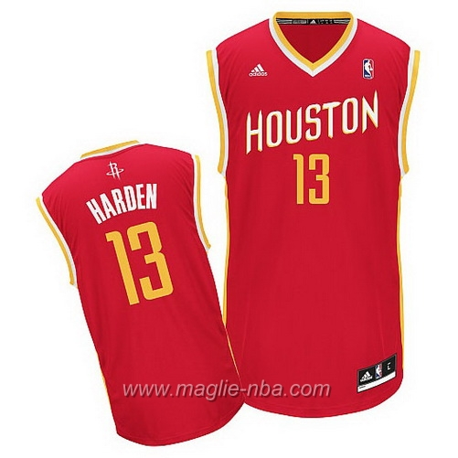 Maglia Alternate Swingman James Harden #13 rosso Houston Rockets