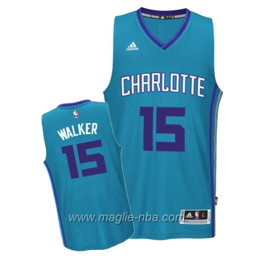 Maglia Alternate Teal Swingman Kemba Walker #15 Charlotte Hornets