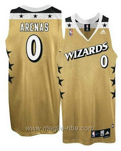 Maglia Gilbert Arenas #0 dorato Washington Wizards
