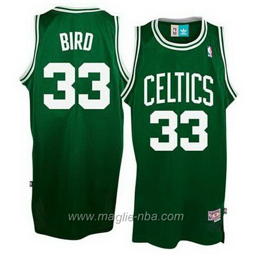 Maglia Larry Bird #33 verde Boston Celtics