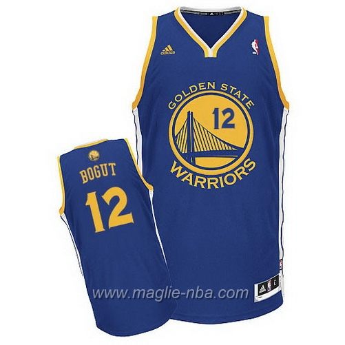 Maglia Andrew Bogut #12 blu Golden State Warriors