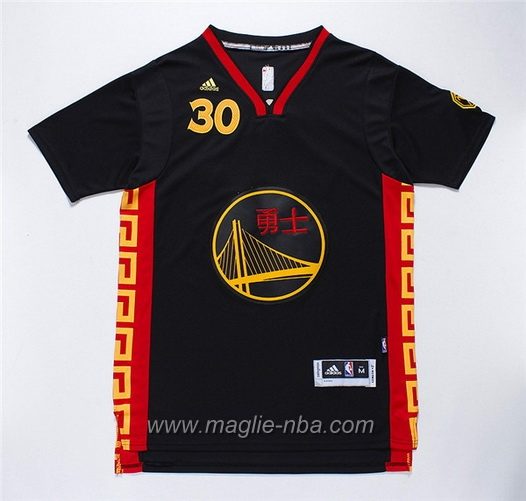 Maglia Cinese Capodanno Swingman Stephen Curry #30 Grey Golden State Warriors