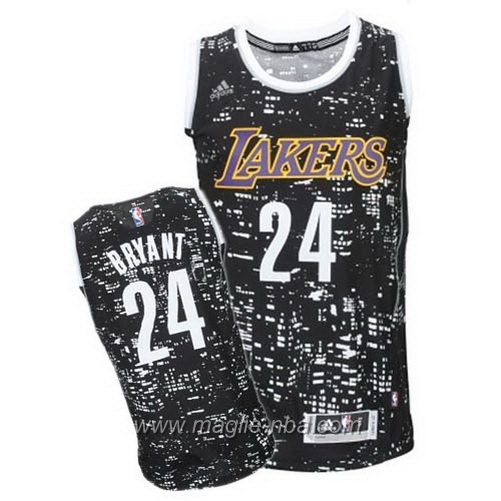 Maglia City Lights Swingman Kobe Bryant #24 nero Los Angeles Lakers
