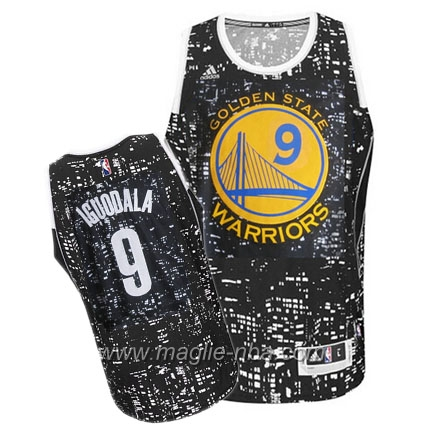 Maglia City Lights Swingman Iguodala #9 nero Golden State Warriors