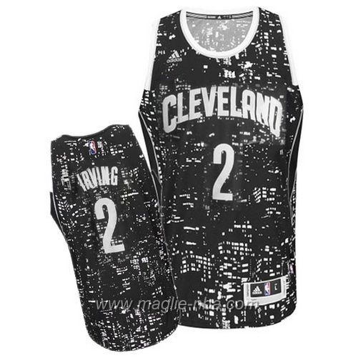 Maglia City Lights Swingman Kyrie Irving #2 nero Cleveland Cavaliers