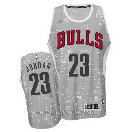 Maglia City Lights Swingman Michael Jordan #23 grigio Chicago Bulls