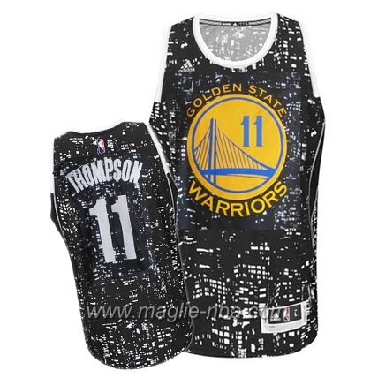 Maglia City Lights Swingman Klay Thompson #11 nero Golden State Warriors