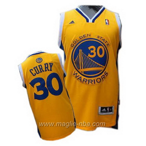 Maglia Stephen Curry #30 giallo Golden State Warriors