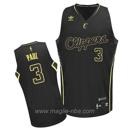 Maglia elettricita Moda Swingman Chris Paul #3 nero Los Angeles Clippers