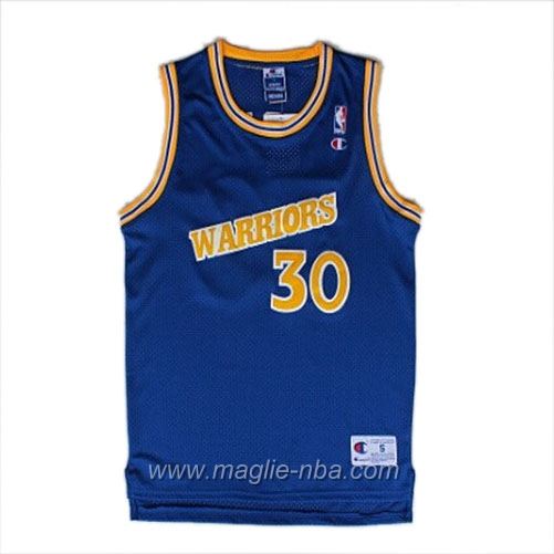 Maglia Segherie Classics Swingman Stephen Curry #30 blu Golden State Warriors