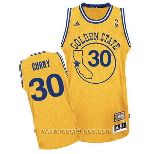 Maglia Segherie Classics Swingman Stephen Curry #30 giallo Golden State Warriors