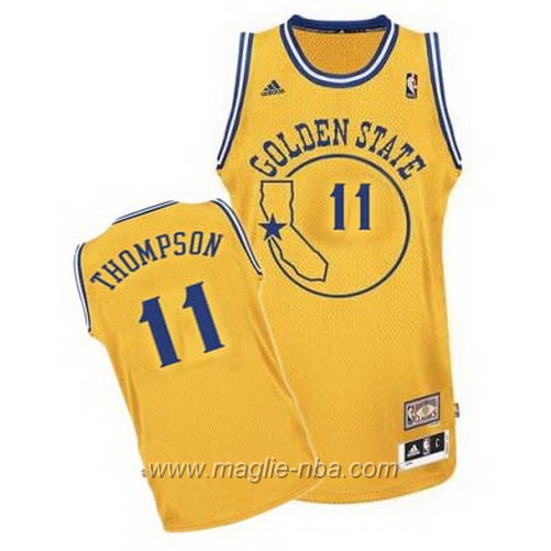 Maglia Segherie Classics Swingman Klay Thompson #11 giallo Golden State Warriors
