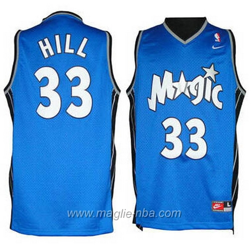 Maglia Grant Hill #33 blu Orlando Magic