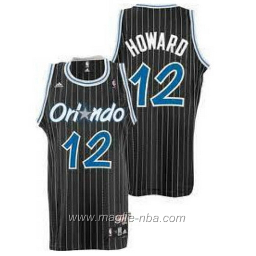 Maglia Dwight Howard #12 Retro nero Orlando Magic